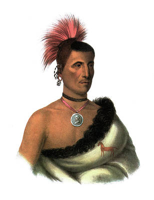 Choker Painting - Peskelechaco, 1821 by Granger