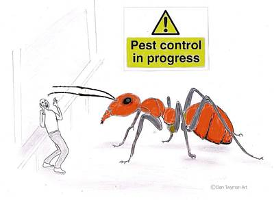 Drawing - Pest Control by Dan Twyman