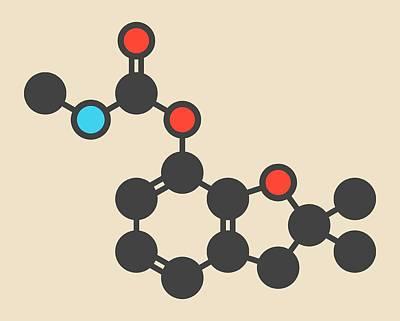 Toxicity Photograph - Pesticide Molecule by Molekuul