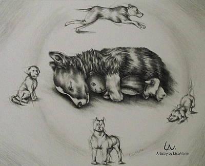 Pet Portrait - Sweet Dreams Art Print