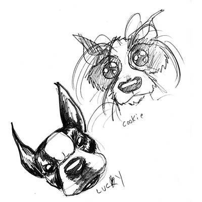 Pet Sketches 3 Art Print by Big Mike Roate