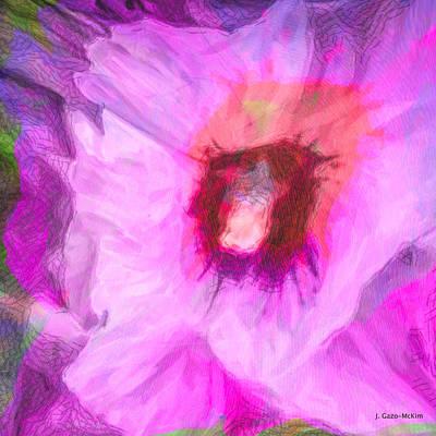 Vivid Colour Painting - Petal Passion by Jo-Anne Gazo-McKim