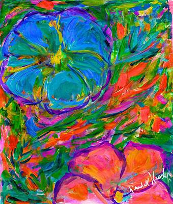 Painting - Petal Play by Kendall Kessler