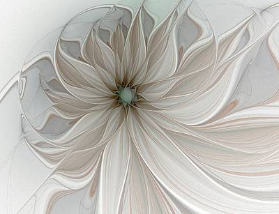 Framed Art Digital Art - Petal Soft White by Amanda Moore