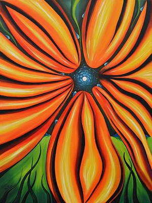 Petal To The Mental Print by Tony Oakey