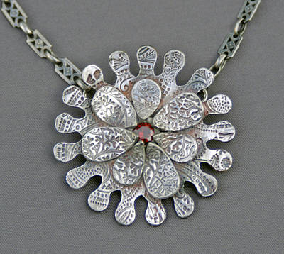 Sterling Silver Chains Jewelry - Petal To The Metal by Mirinda Kossoff