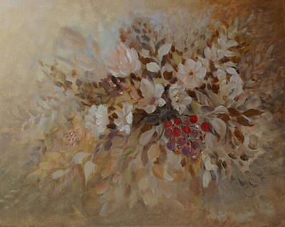 Painting - Petals And Berries by Joanne Smoley