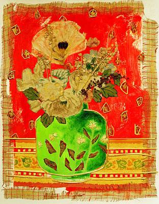 Petals And Leaves Art Print by Diane Fine