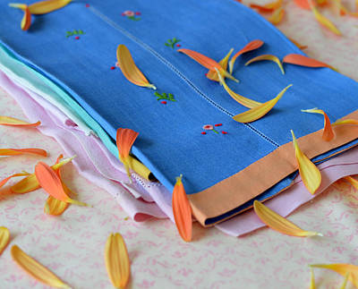 Photograph - Petals And Linens by Cathie Richardson