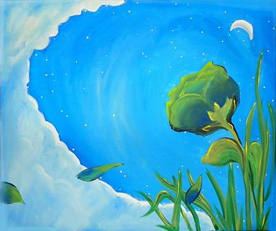 Painting - Petals Drifting by Marisela Mungia