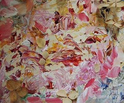 Dried Mixed Media - Petals Make A Circle by Nancy Kane Chapman