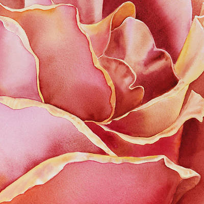 Roses Royalty-Free and Rights-Managed Images - Petals Petals III by Irina Sztukowski
