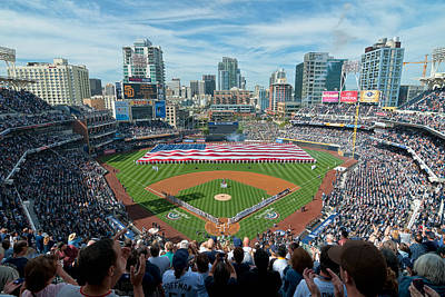 Petco Park Season Opener 2011 Art Print by Mark Whitt