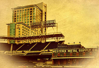 San Diego California Baseball Stadiums Photograph - Petco Park- Western Metal by See My  Photos