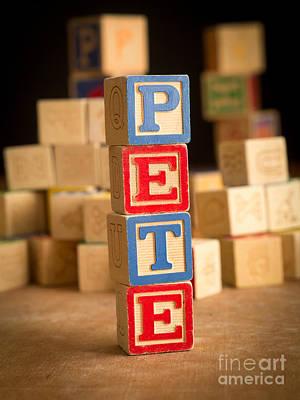 Block Party Photograph - Pete - Alphabet Blocks by Edward Fielding