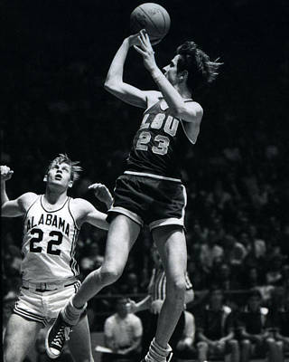 Georgetown Photograph - Pete Maravich Fade Away by Retro Images Archive