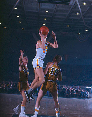 Three Points Photograph - Pete Maravich Floater by Retro Images Archive