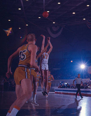 Louisiana State University Photograph - Pete Maravich Gorgeous Shot by Retro Images Archive