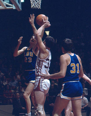 Three Points Photograph - Pete Maravich In Traffic by Retro Images Archive