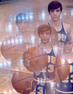 Three Points Photograph - Pete Maravich Kaleidoscope Color 2 by Retro Images Archive