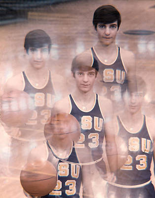 Three Points Photograph - Pete Maravich Kaleidoscope Color by Retro Images Archive