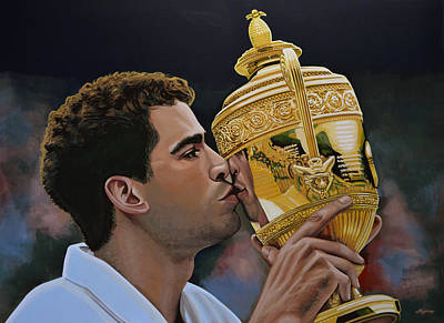 Us Open Painting - Pete Sampras by Paul Meijering