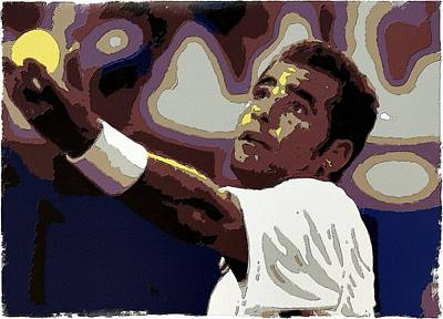 Painting - Pete Sampras Poster Art by Florian Rodarte