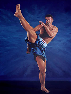 Action Portrait Painting - Peter Aerts  by Paul Meijering