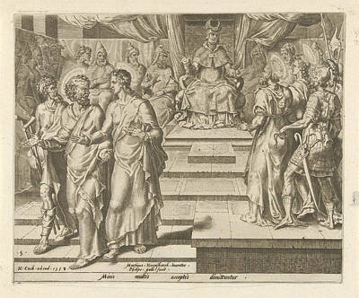 Crutch Drawing - Peter And John Are Released, Philips Galle by Philips Galle And Hieronymus Cock