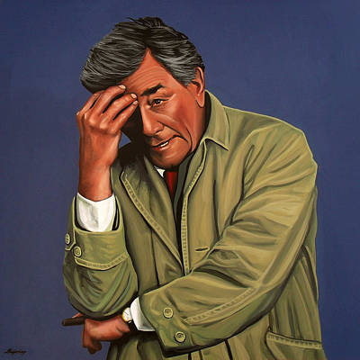 Golden Globe Painting - Peter Falk As Columbo by Paul Meijering