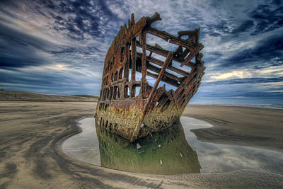Sky Photograph - Peter Iredale At Dawn by David Gn