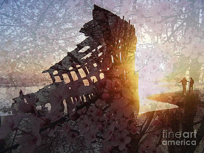 Peter Iredale Photograph - Peter Iredale Shipwreck With Flowers by Katrina Roberts