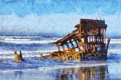 Peter Iredale Digital Art - Peter Iredale Wreck by Kaylee Mason