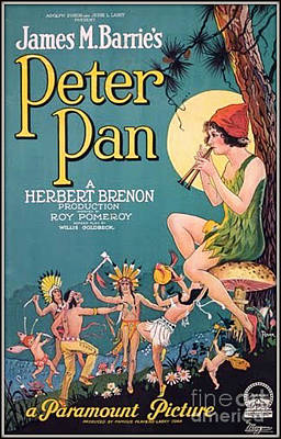 Peter Pan Movie Poster Art Print by Unknown