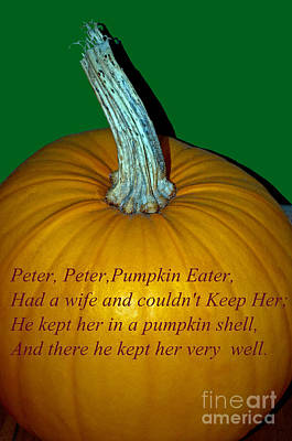 Photograph - Peter Peter Pumpkin Eater by Tikvah's Hope