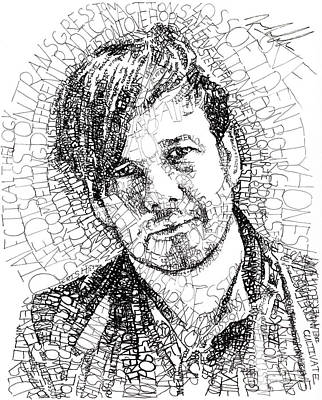 Christianity Drawing - Peter Rollins by Michael Volpicelli