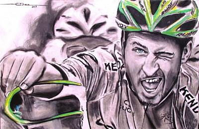 Drawing - Peter Sagan by Eric Dee