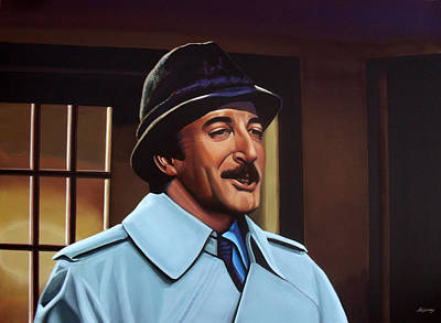 Golden Globe Painting - Peter Sellers As Inspector Clouseau  by Paul Meijering