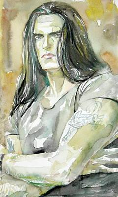 Peter Steele Portrait.2 Art Print
