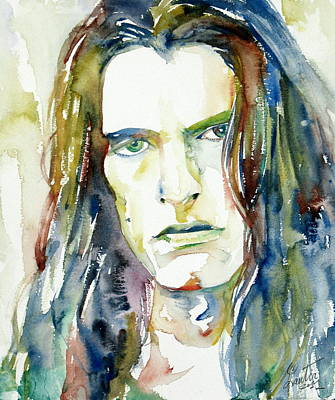 0 Painting - Peter Steele Portrait.4 by Fabrizio Cassetta