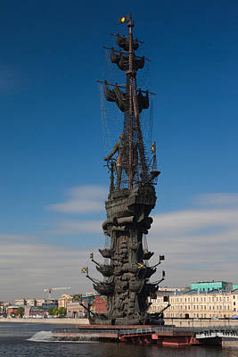 Peter The Great Monument By Zurab Art Print by Panoramic Images