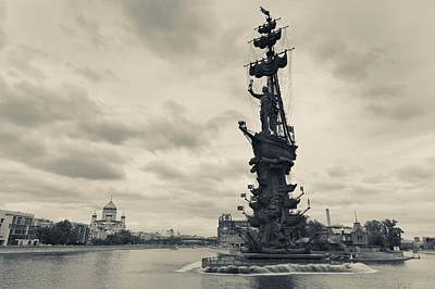 Famous Sculptor Photograph - Peter The Great Monument In The Moscva by Panoramic Images