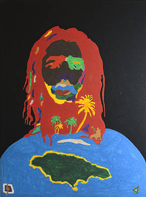 Negro Painting - Peter Tosh Bush Doctor by Stormm Bradshaw