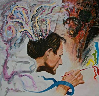 Painting - Peter Wahlbeck The Artist by Dan Koon