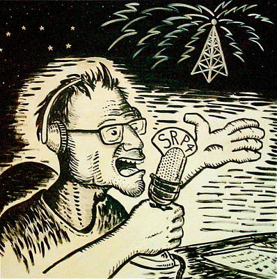 Painting - Peter Wahlbeck The Radio Man by Dan Koon