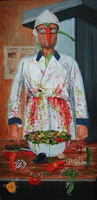 Painting - Peter Wahlbeck The Vegetarian by Dan Koon