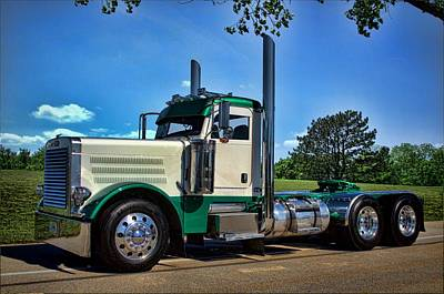 Photograph - Peterbilt Day Cab Semi Truck by Tim McCullough
