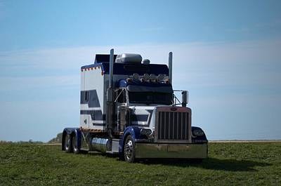 Photograph - Peterbilt Semi Truck With Custom Sleeper by Tim McCullough