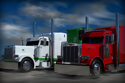 Photograph - Peterbilt Semi Trucks by Tim McCullough