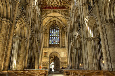 Photograph - Peterborough Cathedral Arches by Fiona Messenger